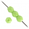 Fire Polished 4mm Opaque Light Green